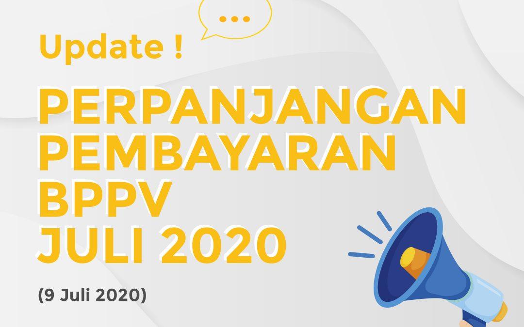Pengumuman Perpanjangan Pembayaran BPPV